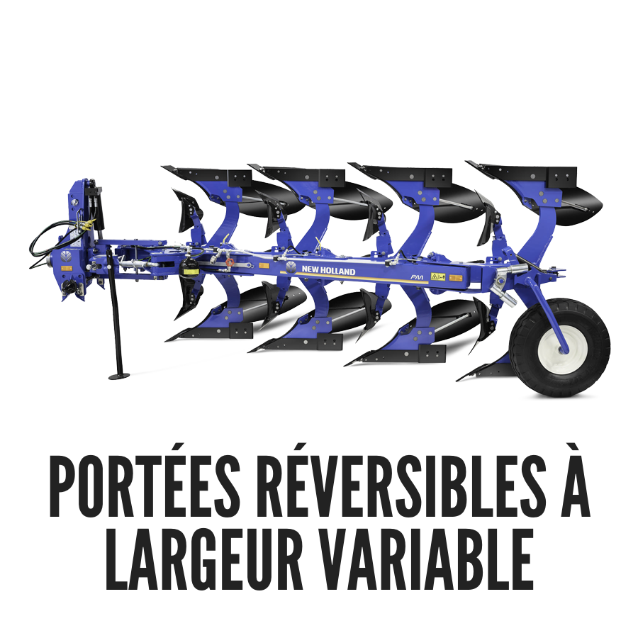 portées réversibles à largeur variable