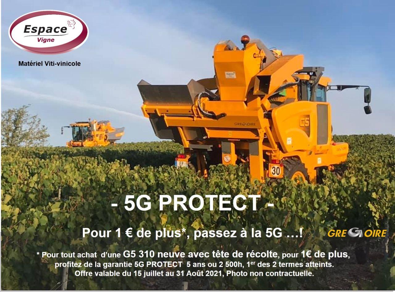 MACHINE A VENDANGER G5 GREGOIRE ESPACE VIGNE TETE DE RECOLTE