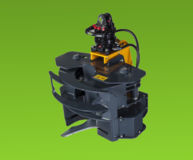 Grappin forestier coupeur couteau hydraulique