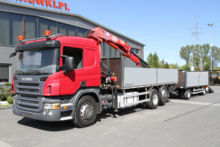 Scania SET P380 CRANE HMF + TRAILER 200 000 km