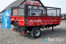 Metal-Fach T 703A 3,8t one axle tipping trailer, NEW 2018, Top-Agro