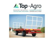 Metal-Fach Bale trailer Ballentransportanhänger T014/2 - 9T TOP AGRO