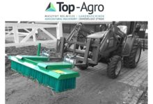 Top-Agro sweeper for pallet forks / forklift sweeper