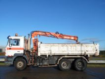 Man  27.314 DFC FE310A 6x4 tipper with crane Atlas 125.1