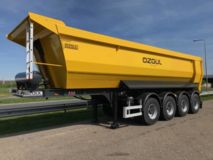 Ozgul  Quad/A End Dump Trailer 35 cbm half pipe